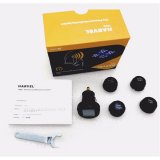HARVEL TPMS Tire Pressure Monitoring System LCD Screen 4 External Sensors Cigarette Lighter Real