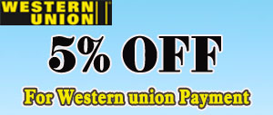Western Union payment 5% off