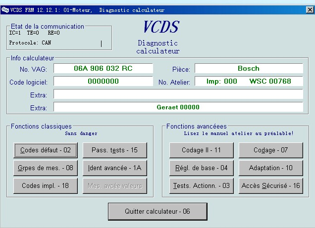vcds is a software package for windows that emulates the functions of